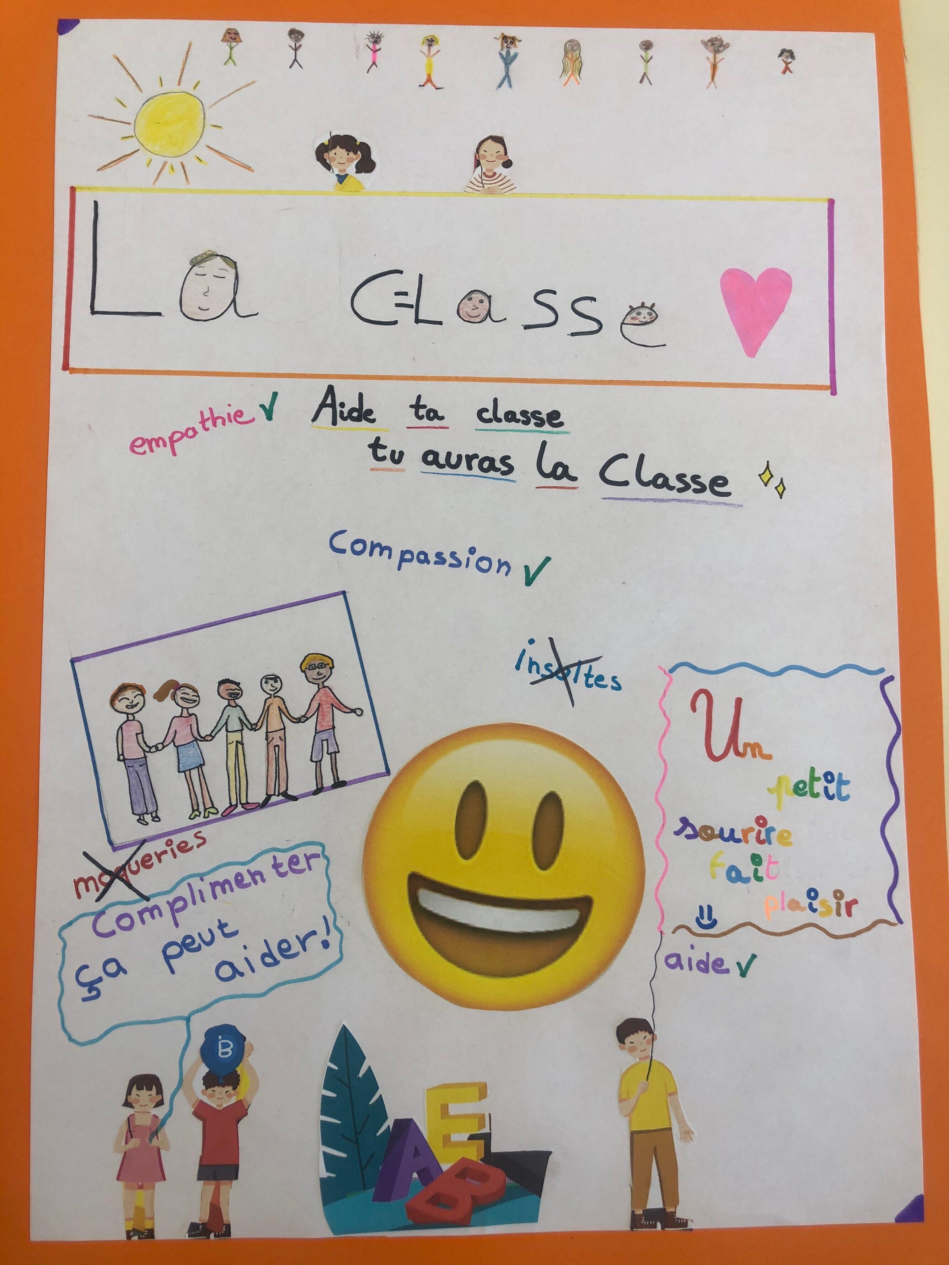 Aide ta classe, tu auras la classe